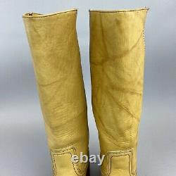 VTG FRYE CAMPUS 14L 77050 Distressed Riding Cowgirl Boots US6 UK3.5 4 Made USA