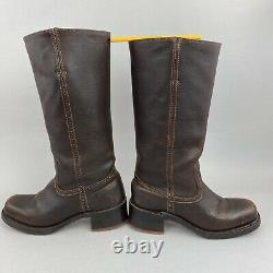 VTG FRYE CAMPUS 14L 77050 Distressed Riding Cowgirl Boots US7 UK4.5 5 Made USA