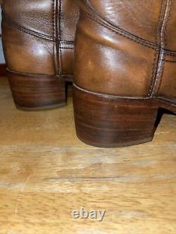 Vintage 70s Frye Black Label Leather Campus Riding Tall Boots Womens Size 7.5D