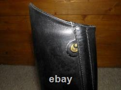 Vintage Cavallo Ladies Black Leather Tall Riding Boots Size UK 6