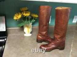 Vintage RARE FRYE CAMPUS BOOTS LEATHER Style# 8710 USA Size 7B (CON44)