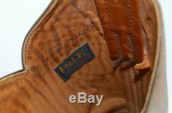 Vtg FRYE USA Women's Sz 7 Tan Leather WESTERN Riding Knee High Campus Boots