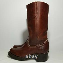 Vtg Frye engineer motorcycle leather boots Burgundy/brown size 6B Women's