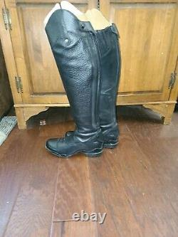 Wmns ARIAT Volant S Tall Full Calf Zip Black Leather Riding Boot 8.5