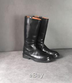 Women's ANN DEMEULEMEESTER BLACK RIDING BOOTS rick owens 37,5 made in italy
