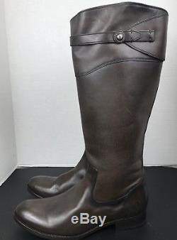 Women's Frye'Molly Button' Knee High Leather Riding Boots SZ 13B Dark Grey EXT