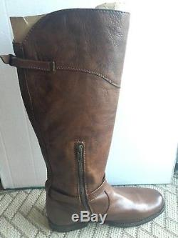 Women's Shoes Frye PHILLIP Riding Tall Knee High Boots Leather Cognac Size 10