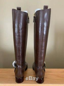 Women's Tory Burch Coconut Bristol Riding Knee High Boot New In Box Size 7.5