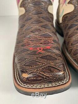 Womens Ariat Tattoo Flash Ivory Ride Live Cowboy Rodeo Western Boots Size 8 B