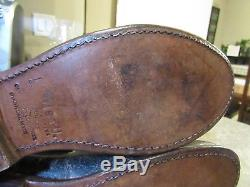 Womens BED STU Cobbler Series Distressed Goodyear Welt Soles Calf Boots Sz 9 EXC