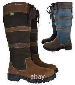 Womens Comfort Riding Walking Hiking Boots Waterproof Wyre Horse Shoes Size