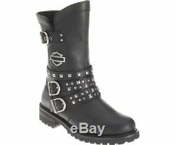 Womens Harley Davidson Adrian Mid Cut Zip Up Biker Riding Boots Sizes 3.5 to 7.5
