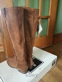 Womens NEW In Box FRYE Cara Roper tall brown leather suede riding boots size 8
