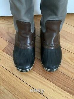 Womens Sorel Slimpack Tall Riding Boots Shale Size 9