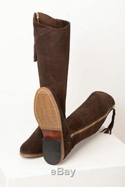 Womens Spanish Riding Boots Ladies Tall Suede Full Zipped Knee High Boots Rydale