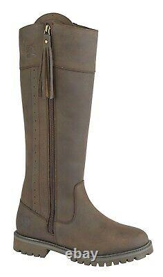 Woodland Bailey Women's Riding Boots Brown Leather Equestrian Waterproof Boots